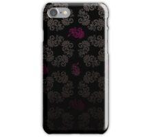 Black floral pattern iPhone Case/Skin