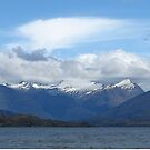 Mountains from Lake Wanaka by spinwych