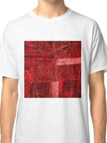 RED PATCHWORK Classic T-Shirt
