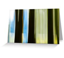 Abstract Forest, Paradise, New Zealand Greeting Card