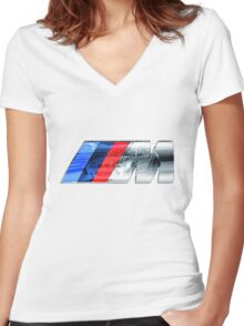 BMW E46 M3 GT ///M Overlay Women's Fitted V-Neck T-Shirt