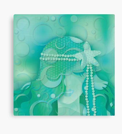 Aqua Mermaid Canvas Print