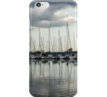 Ripples and Reflections - Ominous Gray Clouds at a Marina iPhone Case/Skin