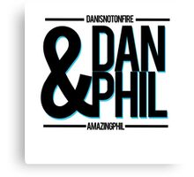 Dan & Phil: YouTuber Canvas Print