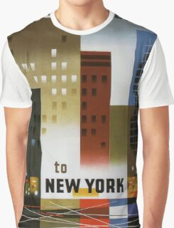 Vintage poster - New York City Graphic T-Shirt