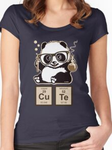 Chemistry panda discovered cute Women's Fitted Scoop T-Shirt