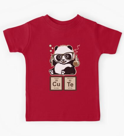 Chemistry panda discovered cute Kids Tee