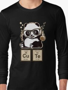 Chemistry panda discovered cute Long Sleeve T-Shirt