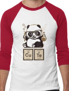 Chemistry panda discovered cute Men's Baseball ¾ T-Shirt