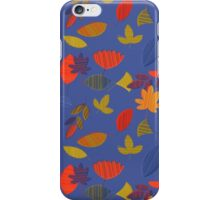 Abstract Blue Florar Pattern iPhone Case/Skin