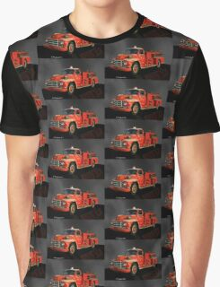 1955 Diamond T Fire Truck - An American Classic Graphic T-Shirt