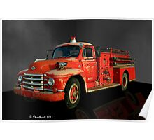 1955 Diamond T Fire Truck - An American Classic Poster