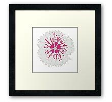 Grey Flower Framed Print