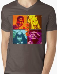 SAIYUKI (MONKEY MAGIC) - posterized Mens V-Neck T-Shirt