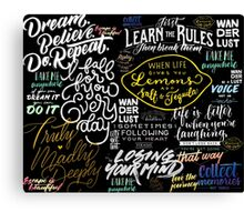 Wordy Word Words...for inspired people.  Canvas Print