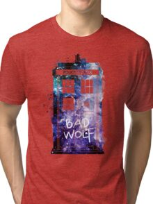 Doctor Who Tardis Bad Wolf Watercolor Tri-blend T-Shirt