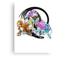Entei Raikou Suicune Canvas Print