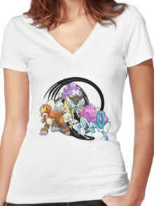Entei Raikou Suicune Women's Fitted V-Neck T-Shirt