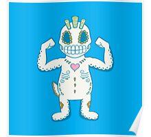 Machop Pokemuerto | Pokemon & Day of The Dead Mashup Poster