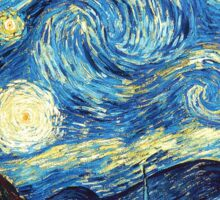 the starry night by van gogh Sticker