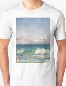 Flynns Beach clouds & waves T-Shirt