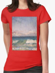 Flynns Beach clouds & waves Womens Fitted T-Shirt