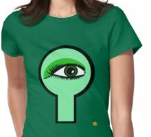 Emerald Key Hole Womens Fitted T-Shirt