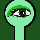 Emerald Key Hole by Anne van Alkemade