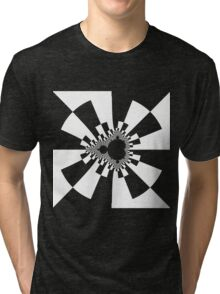 Mandelbrot XV - White Tri-blend T-Shirt