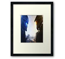 Halo 5 fuckery Framed Print