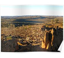 View to the Barrier Ranges from the Living Desert Reserve Poster