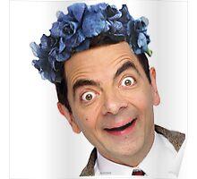 Flower Crown Mr. Bean Poster