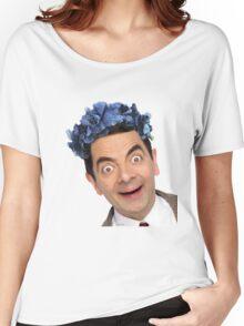 Flower Crown Mr. Bean Women's Relaxed Fit T-Shirt