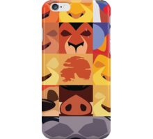 Minimalist Lion King Icons iPhone Case/Skin