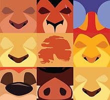 Minimalist Lion King Icons by samohtlion