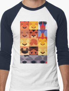 Minimalist Lion King Icons Men's Baseball ¾ T-Shirt