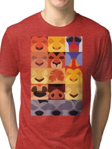 Minimalist Lion King Icons Tri-blend T-Shirt