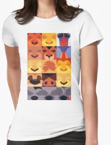Minimalist Lion King Icons Womens Fitted T-Shirt