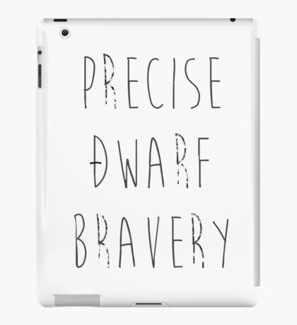 Precise Dwarf Bravery iPad Case/Skin