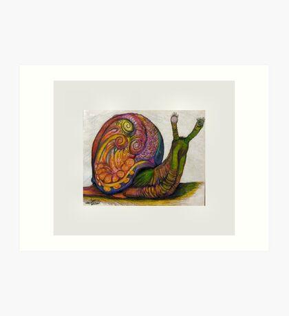 EricTHEWilson Psychedelic Snail Art Print