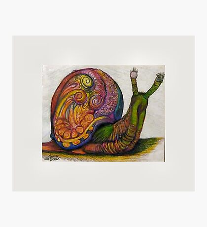 EricTHEWilson Psychedelic Snail Photographic Print
