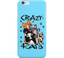 Crazy Cat Lovers Kitty Art iPhone Case/Skin