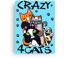 Crazy Cat Lovers Kitty Art Canvas Print