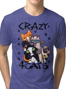Crazy Cat Lovers Kitty Art Tri-blend T-Shirt