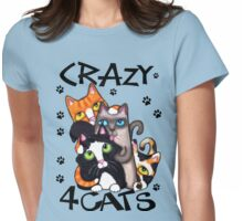 Crazy Cat Lovers Kitty Art Womens Fitted T-Shirt