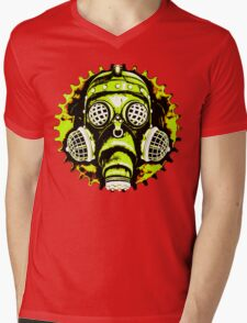 Steampunk / Cyberpunk Gas Mask Posterized Version Mens V-Neck T-Shirt