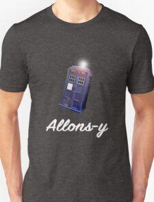 """Allons-y!"" Public Call Box. T-Shirt"