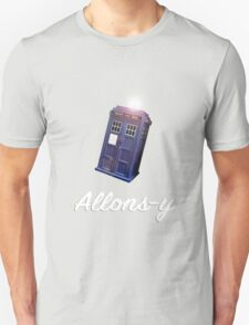 """Allons-y!"" Public Call Box. T-Shirt"