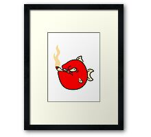 Bad fish with cigarette joint Framed Print