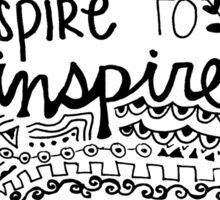 Aspire to Inspire Zentangle Quote Sticker